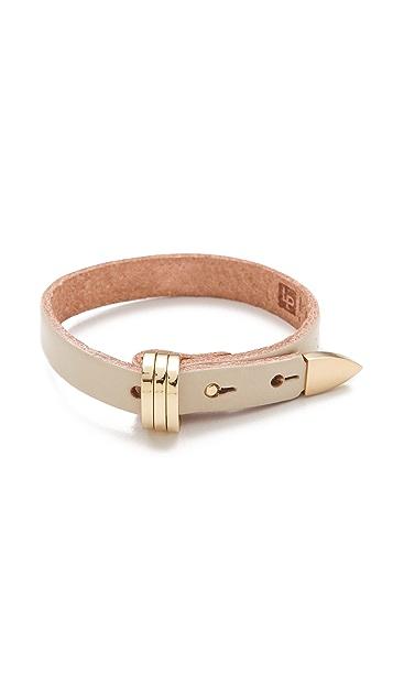 Linea Pelle Avery Buckle Leather Bracelet
