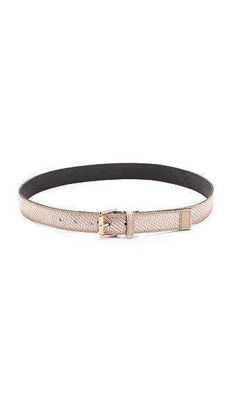 Linea Pelle Avery Metallic Belt