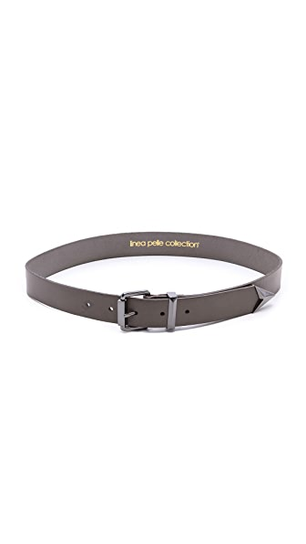 Linea Pelle Faceted Tip Belt