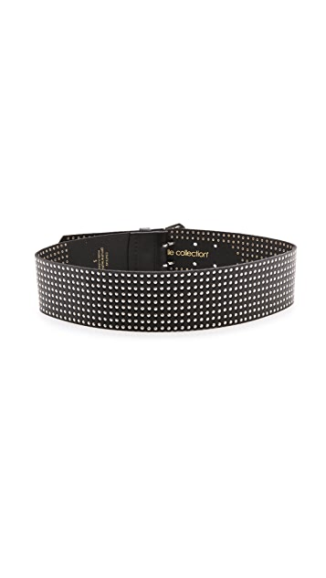 Linea Pelle Thick Nailhead Belt