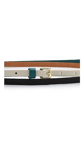 Linea Pelle Triple Color Double Wrap Belt