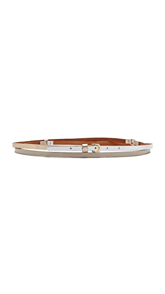 Linea Pelle Triple Color Double Wrap Belt
