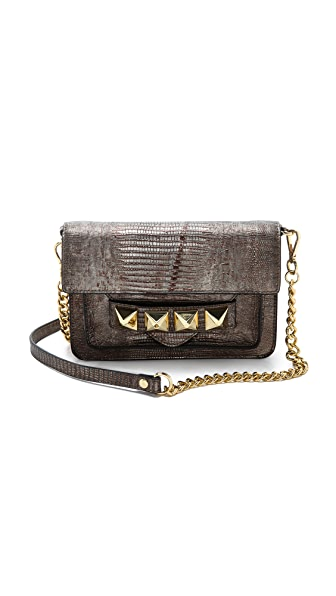 Linea Pelle Grayson Lizard Bar Bag