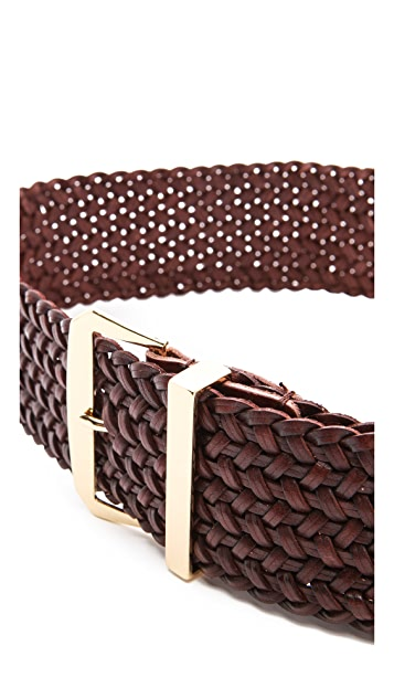 Linea Pelle Wide Braided Waist Belt