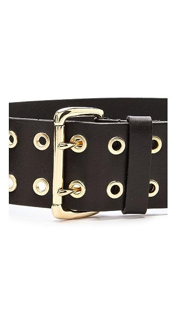 Linea Pelle Flat Eyelet Wide Waist Belt