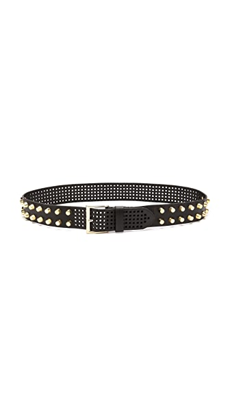 Linea Pelle Bevel Stud Hip Belt