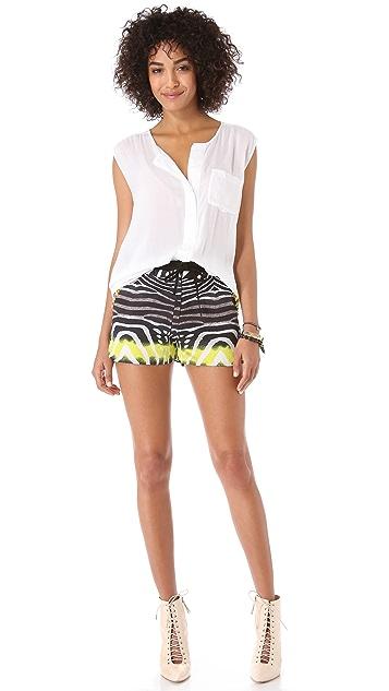 Line & Dot Rhinestone Jeweled Shorts