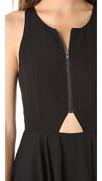 Line & Dot Triangle Cutout Dress