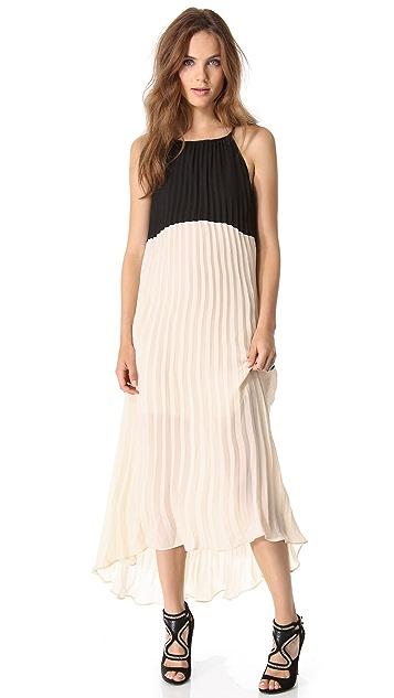 Line & Dot Colorblock Dress