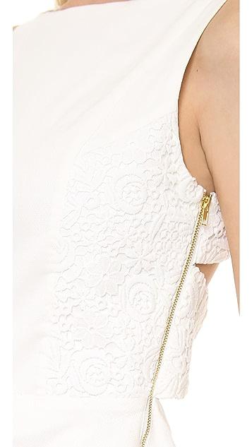 Line & Dot Lace Strap Back Dress