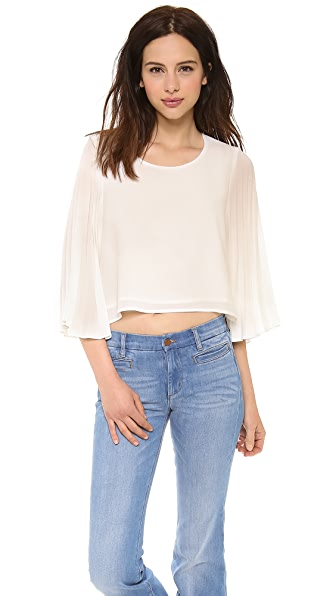 Line & Dot Sunburst Pleat Top