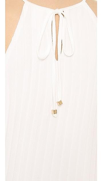 Line & Dot Pleated Mini Dress