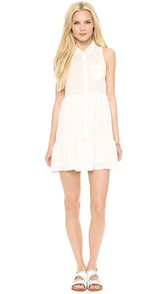 Line & Dot Strappy V Back Shirtdress