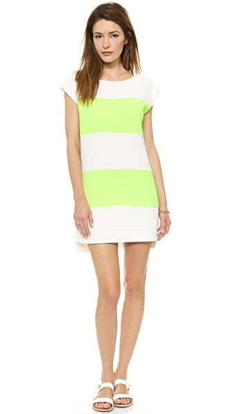 Line & Dot V Back Shift Dress