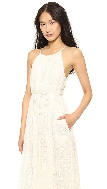 Line & Dot Lace Maxi Dress