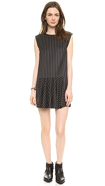 Line & Dot Criminal Drop Waist Dress