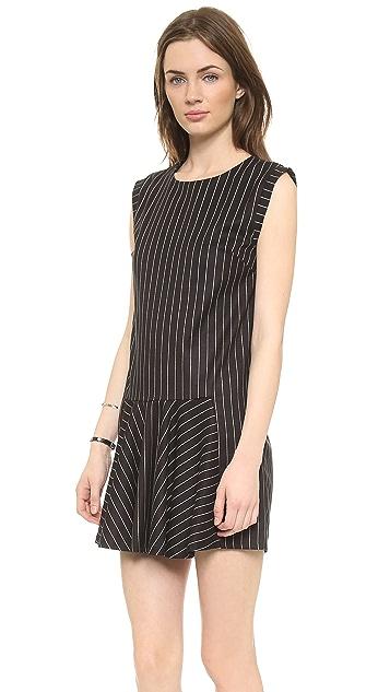Line & Dot Criminal Drop Waist Dress