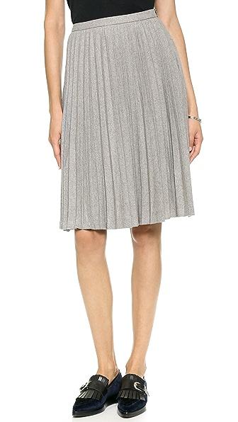 Line & Dot HIllary Pleat Midi Skirt