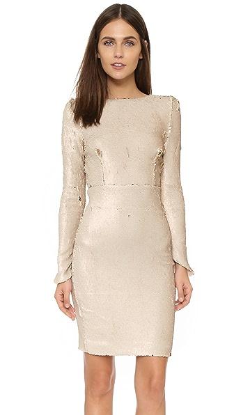 Line & Dot Sequin Dress - Pale Pink