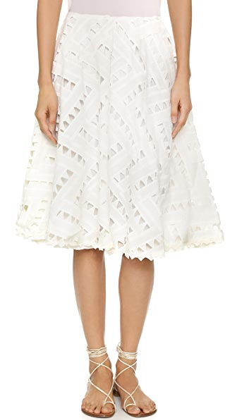 Line & Dot Geo Lace Skirt