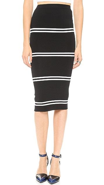 Line II Dion Lee Striped Rib Skirt