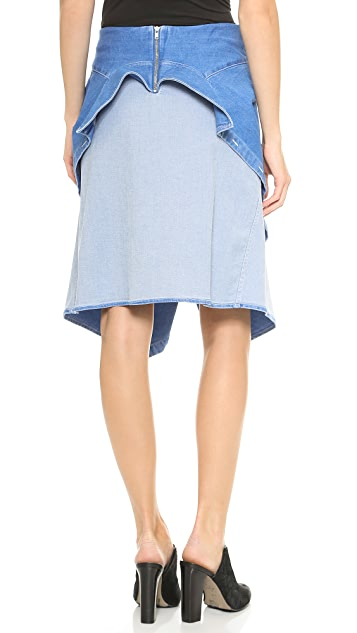 Line II Dion Lee Denim Wrap Skirt