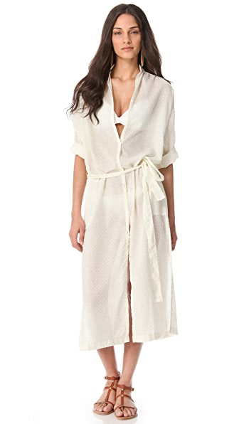 Lisa Marie Fernandez The Cover Up Shirtdress
