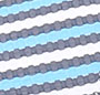 Blue/White/Navy Stripe