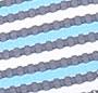 Blue/White/Navy Stripe