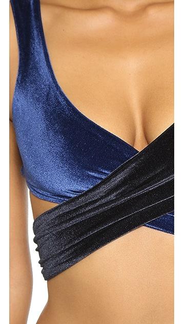 Lisa Marie Fernandez Marie Louise Velvet Bikini Set