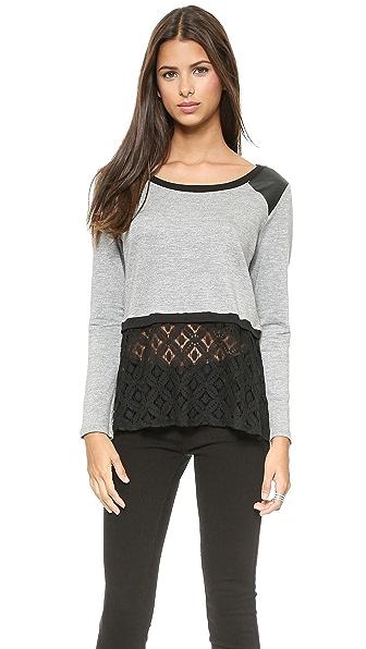 LIV Long Sleeve Cropped Sweatshirt
