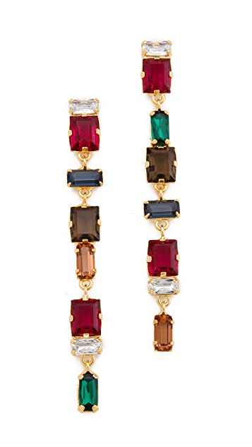 Lizzie Fortunato The Crystal Column Earrings
