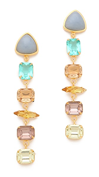 Lizzie Fortunato Crystal Column Earrings