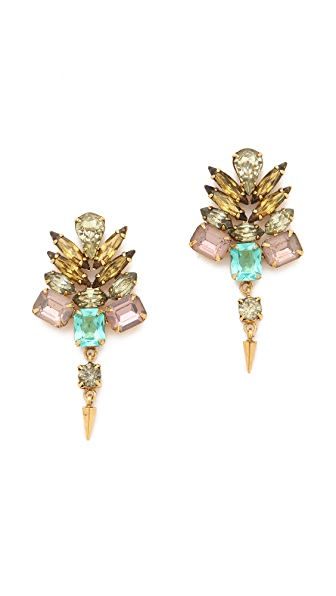 Lizzie Fortunato Desert Bloom Crystal Earrings