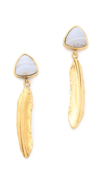 Lizzie Fortunato Desert Feather Earrings
