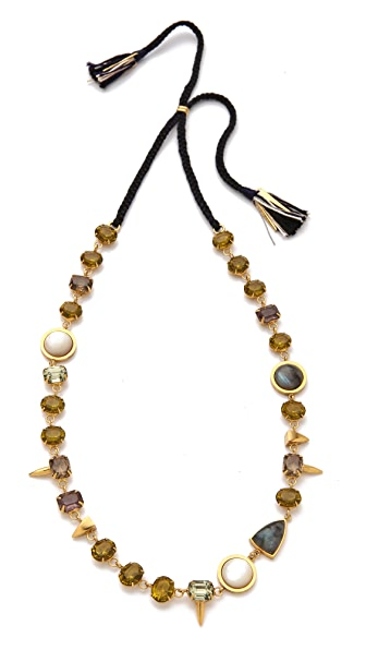 Lizzie Fortunato Black Iris Necklace
