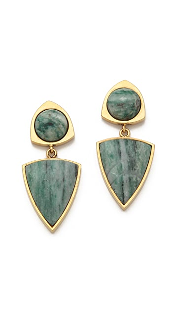 Lizzie Fortunato Healer's Stone Earrings