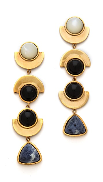Lizzie Fortunato The Elegant Ordinary Column Earrings
