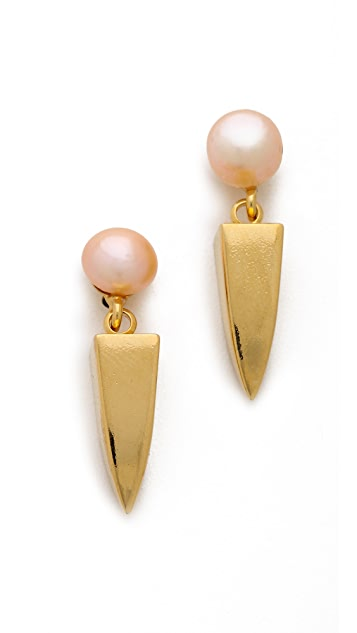 Lizzie Fortunato Pearl Dagger Earrings