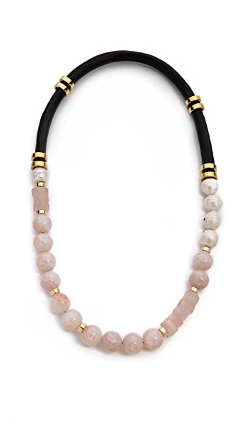 Lizzie Fortunato Fire Agate Single Strand Necklace