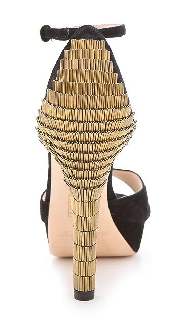 L.K. Bennett Bellini Peep Toe Sandals