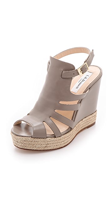 L.K. Bennett Hawaii Wedge Sandals