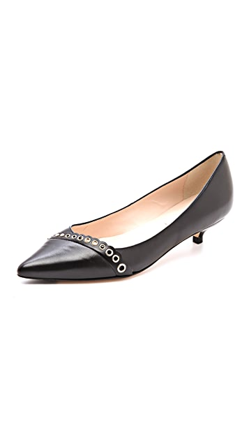 L.K. Bennett Lara Kitten Heel Pumps with Eyelets