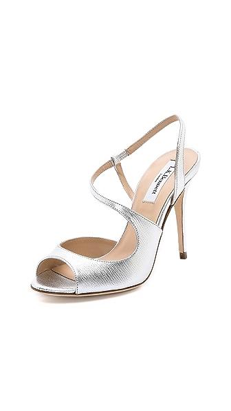 L.K. Bennett Palma Metallic Asymmetrical Sandal