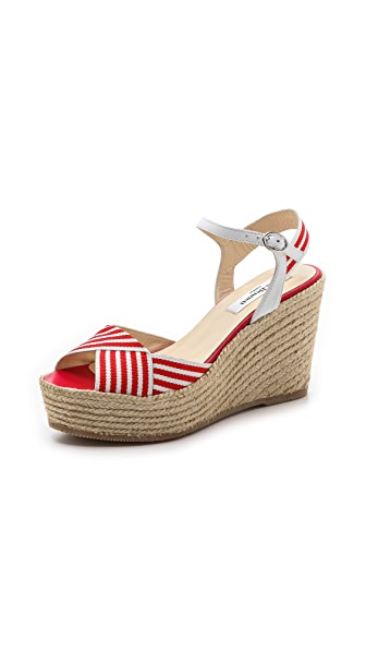 L.K. Bennett Connie Espadrille Wedge Sandals