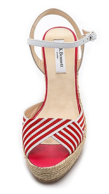 L.K. Bennett Connie Espadrille Wedge Sandals