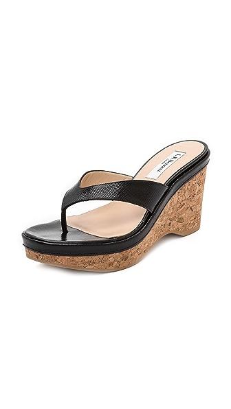 L.K. Bennett Laura Thong Wedge Sandals