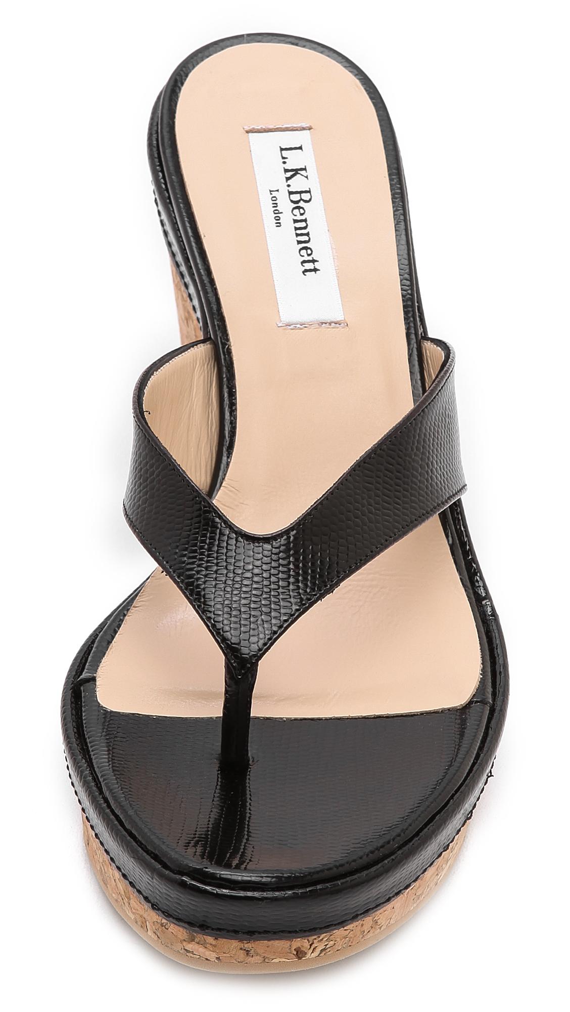 e7c9ff1caaabf L.K. Bennett Laura Thong Wedge Sandals