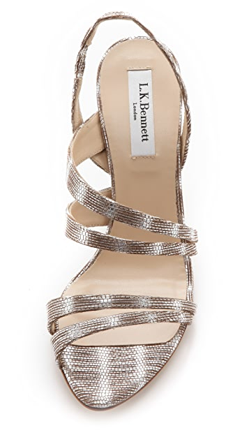 L.K. Bennett Addie Strappy Sandals