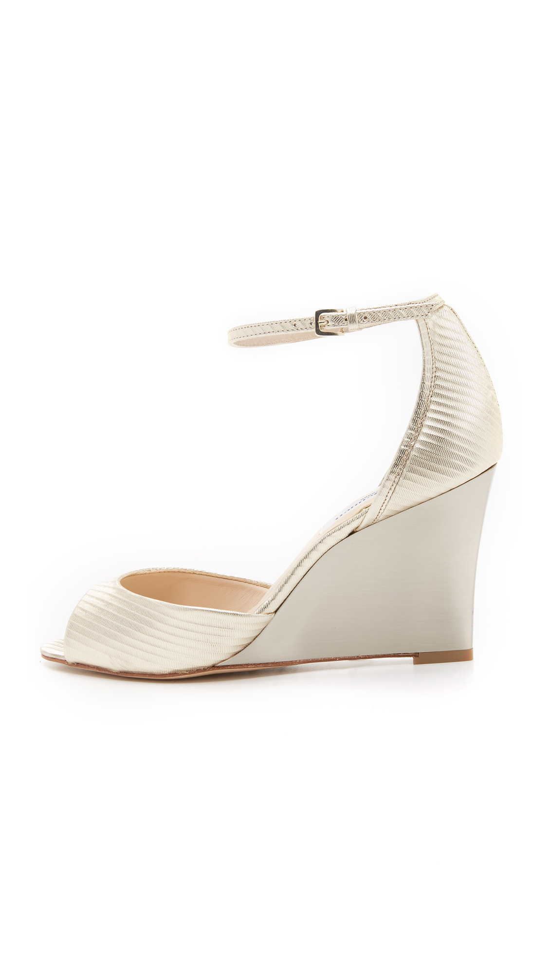 L.K. Bennett Metallic Knot Wedges cheap find great free shipping limited edition clearance original MaI5sn3so